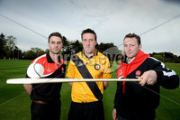 Press Eye - Belfast - Northern Ireland - 9th May 2012 . Ulster Camogie and GAA Hurling All Ireland Senior Championship. Picture by Elaine Hill / Press Eye. Liam Hinphey Derry, Ruairi Convery Derry and Patrick McCloskey Derry