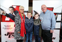 Press Eye - Belfast - Northern Ireland - 30th September 2018 - . Martina Dempster,  Callum Dempster, Coby Quinn and John Dempster pictured at Movie House Dublin Road for a special preview screening of upcoming comedy, JOHNNY ENGLISH STRIKES AGAIN, in cinemas across Northern Ireland from Friday 5th October.. Photo by Kelvin Boyes / Press Eye..