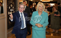 22 May 2019, Mandatory Credit Press Eye/Darren Kidd.  The Prince of Wales and Duchess of Cornwall during their visit to The Grand Central Hotel Belfast on the second day of their visit to Northern Ireland. . Duchess of Cornwall with Hasting Hotels James McGinn.