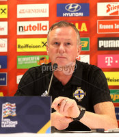 Press Eye - Belfast -  Northern Ireland - 11th October 2018 - Photo by William Cherry/Presseye. Northern Ireland manager Michael O\'Neill during Thursday nights press conference at the Ernst Happel Stadium in Vienna, ahead of their UEFA Nations League game against Austria.