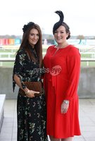 Press Eye - Belfast - Northern Ireland - 3rd November 2018 . Down Royal Festival of Racing - Day 2. Aly Harte and Jennifer Mitchell pictured at Down Royal . Photo by Kelvin Boyes / Press Eye..