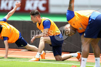 Press Eye - Belfast -  Northern Ireland - 02nd June 2018 - Photo by William Cherry/Presseye. Northern Ireland\'s Jordan Thompson pictured during Saturday mornings training session at the Nuevo Estadio Nacional de Costa Rica in San Jose ahead of Sundays Friendly International against Costa Rica.. Photo by William Cherry/Presseye