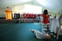 Press Eye - Belfast - Northern Ireland - 8th September 2018 - . Rory Best\'s son Richie, pictured at the Archbishop's Palace in Armagh along with friends and family of Dr Rory Best OBE to witness the sportsman's conferment with the Freedom of the Borough of Armagh City, Banbridge and Craigavon..  . Photo by Kelvin Boyes / Press Eye..