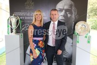 Press Eye - Belfast - Northern Ireland - 8th September 2018 - . Elaine and Mark Anderson pictured at the Archbishop's Palace in Armagh along with friends and family of Dr Rory Best OBE to witness the sportsman's conferment with the Freedom of the Borough of Armagh City, Banbridge and Craigavon..  . Photo by Kelvin Boyes / Press Eye..