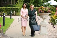 Press Eye - Belfast - Northern Ireland - 8th September 2018 - . Sharon O\'Gorman and Olga Murtagh pictured at the Archbishop's Palace in Armagh along with friends and family of Dr Rory Best OBE to witness the sportsman's conferment with the Freedom of the Borough of Armagh City, Banbridge and Craigavon..  . Photo by Kelvin Boyes / Press Eye..