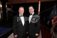 Press Eye - Belfast - Northern Ireland - Tuesday 24th April 2012 -  Picture by Kelvin Boyes / Press Eye.. 2012 Belfast Telegraph Northern Ireland Business Awards in association with bmi at the Ramada Hotel. Andrew Irvine and Glyn Roberts