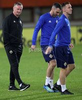 Press Eye - Belfast -  Northern Ireland - 11th October 2018 - Photo by William Cherry/Presseye. Northern Ireland manager Michael O\'Neill during Thursday nights training session at the Ernst Happel Stadium in Vienna, ahead of their UEFA Nations League game against Austria.