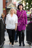 Press Eye - High Court Belfast - 5th October 2018. Photograph By Declan Roughan. (L-R) Sarah Ewart and Grainne Teggart, Northern Ireland campaigner for Amnesty International arrive at the High Court in Belfast to challenge court rulings regarding Abortion Law in Northern Ireland.