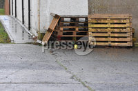 Press Eye - Belfast - Northern Ireland -   Friday 6th December 2019. Picture by  Press Eye Stephen Hamilton. . ATM machine that was stolen from commercial premises in Antrim during the early hours of today (Friday 6th December). . Detective Inspector Richard Thornton said: