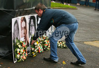 Press Eye - Belfast - Northern Ireland - 5th October 2019. Newry Republican Commemoration Committee parade through the town to Raymond McCreesh park to commemorate the hunger striker.  IRA volunteer Raymond McCreesh died in May 1981 as part of the Republican hunger strikes which seen 10 men die in the Maze prison.  A children\'s playpark in Newry was recently named after him. . Wreaths are laid during speeches in Raymond McCreesh park. . Picture by Jonathan Porter/PressEye