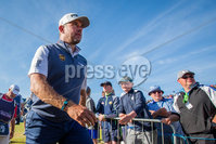 2018 Dubai Duty Free Irish Open - Day 1, Ballyliffin Golf Club, Co. Donegal 5/7/2018. Lee Westwood coming off the 18th green. Mandatory Credit ©INPHO/Oisin Keniry