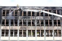 Press Eye - Belfast - Northern Ireland - 7th July 2018 - Northern Ireland Fire Service at the former Foyle College Junior School, on the Northland Road, Derry, following a fire, believed to be arson, in the early hours of the morning.. Photo by Lorcan Doherty / Press Eye.