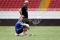 Press Eye - Belfast -  Northern Ireland - 02nd June 2018 - Photo by William Cherry/Presseye. Northern Ireland\'s Trevor Carson with coach Maik Taylor pictured during Saturday mornings training session at the Nuevo Estadio Nacional de Costa Rica in San Jose ahead of Sundays Friendly International against Costa Rica.. Photo by William Cherry/Presseye