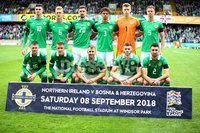 PressEye-Northern Ireland- 8th September  2018-Picture by Brian Little/ PressEye. Northern Ireland team against  Bosnia and Herzegovina      during  Saturday\'s  UEFA Nations League match at the National Football Stadium at Windsor Park.. Picture by Brian Little/PressEye .