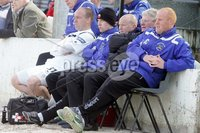 ©/Presseye.com - 28th April 2012.  Press Eye Ltd - Northern Ireland - Carling Premiership. Lisburn Distillery V Ballymena Utd.. The Lisburn bench.. Mandatory Credit Photo Lorcan Doherty / Presseye.com