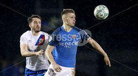 Danske Bank Premiership, Mourneview Park, Co. Armagh 3/4/2018 . Glenavon vs Linfield. Mandatory Credit ©INPHO/William Cherry. Glenavon\'s Andrew Mitchell with Linfield\'s Josh Robinson
