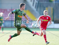 UEFA Europa League First Qualifying Round First Leg, Solitude, Belfast 12/7/2018. Cliftonville vs Nordsjaelland. Nordsjaelland\'s Karlo Bartlec. Mandatory Credit ©INPHO/Jonathan Porter