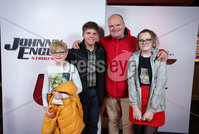 Press Eye - Belfast - Northern Ireland - 30th September 2018 - . Daniel, Sean, Tara and Ralph McLean pictured at Movie House Dublin Road for a special preview screening of upcoming comedy, JOHNNY ENGLISH STRIKES AGAIN, in cinemas across Northern Ireland from Friday 5th October.. Photo by Kelvin Boyes / Press Eye..