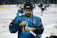 Press Eye - Belfast -  Northern Ireland -16th November 2019 - Photo by Katie Jean Cherry/Presseye . Belfast Giants\' Lewis Hook before Saturday nights Elite Ice Hockey League game against Dundee Stars at the SSE Arena, Belfast.    Photo by Katie Jean Cherry/Presseye