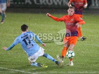 Danske Bank Premiership, Showgrounds, Ballymena 2/11/2018. Ballymena United v Glenavon FC. Ballymena United   Andy McGrory   and  Mark Sykes    of Glenavon.. Mandatory Credit @INPHO/Brian Little.