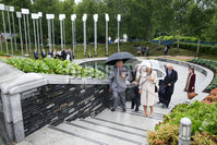 Press Eye - Belfast - Northern Ireland - 13th June 2018 - . The Prince of Wales has visited the Memorial Garden in Omagh Town Centre where a floral tribute was laid.   The wreath of white roses and herbs of remembrance (rosemary, lavender and thyme) was from the gardens of Hillsborough Castle.. His two-day visit to Northern Ireland began in Belfast earlier on Tuesday.. The Prince of Wales in the Memorial Garden..  . Photo by Kelvin Boyes / Press Eye..
