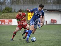 9th January 2021. Danske Bank Premiership, Solitude, Belfast . Cliftonville vs Crusaders. Cliftonville\'s  Gary Breen  in action with Crusaders Adam Leckey . Mandatory Credit INPHO/Stephen Hamilton