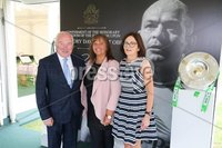 Press Eye - Belfast - Northern Ireland - 8th September 2018 - . Jim Speers, Susan Parkes and Dawn McDowell pictured at the Archbishop's Palace in Armagh along with friends and family of Dr Rory Best OBE to witness the sportsman's conferment with the Freedom of the Borough of Armagh City, Banbridge and Craigavon..  . Photo by Kelvin Boyes / Press Eye..
