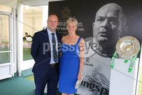 Press Eye - Belfast - Northern Ireland - 8th September 2018 - . Andrew and Alison Symington pictured at the Archbishop's Palace in Armagh along with friends and family of Dr Rory Best OBE to witness the sportsman's conferment with the Freedom of the Borough of Armagh City, Banbridge and Craigavon..  . Photo by Kelvin Boyes / Press Eye..