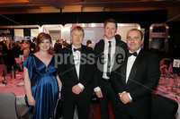 Press Eye - Belfast - Northern Ireland - Tuesday 24th April 2012 -  Picture by Kelvin Boyes / Press Eye.. 2012 Belfast Telegraph Northern Ireland Business Awards in association with bmi at the Ramada Hotel. Oorlagh McGahan, Colin Graham, Oscar Wooley and Jason Paul