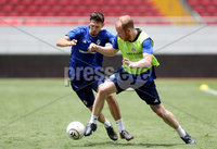 Press Eye - Belfast -  Northern Ireland - 02nd June 2018 - Photo by William Cherry/Presseye. Northern Ireland\'s Craig Cathcart and Liam Boyce pictured during Saturday mornings training session at the Nuevo Estadio Nacional de Costa Rica in San Jose ahead of Sundays Friendly International against Costa Rica.. Photo by William Cherry/Presseye