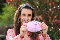 Press Eye - Belfast - Northern Ireland - 30th March 2020 - . Belfast based fashion designer Chloe Dougan is pictured with one of the face masks being used for hospital staff and carers.. She has helped for a group of seamstresses across Northern Ireland called NI Scrubs Group making scrubs for NHS Staff and carers.. Members of the public can donate money towards material:. https://www.gofundme.com/f/ni-fund-fabric-for-scrubs-etc?utm_medium=copy_link&utm_source=customer&utm_campaign=p_na%20share-sheet&rcid=e0350f64dd16489797ecca2e44fd2754&fbclid=IwAR1IuQ4Mqg3v95icfshl3e29Qx_46puIC0FqGGHAgjFGCJ_2kDBO3JCVy7Q. Photo by Kelvin Boyes / Press Eye..