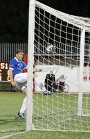 @Press Eye Ltd Northern Ireland- 2nd September 2014. Mandatory Credit -Brian Little/Presseye . Cliftonville Johnny Flynn  header inches towards the goal line chased by Linfield\'s Mark Haughey   during Tuesday night\'s Danske Bank Premiership match at Solitude.. Picture by Brian Little/Presseye .  . . . .  . . . . .  . . .  . . . . . . . . . . . . . . . . . . . .  . . . . . . .   . . . . .  . . . . .  . .                  . . . . . . . . . . . . . . . .  . . .                   . .    .  . . . . . . . . . . . .  . . . .  . .  . . . . . . . . . . . . . . . . . . . . . . . . . . . . . . . . . . . . . . . . . . . . . . . . . . . . . . . . . . . . . . . . . . . . . . . . . . . . . . . . . . . . . . . .  . . . . . . . . . . . .
