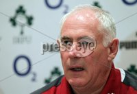 Ireland Rugby Press Conference, Crowne Plaza Hotel, Auckland, New Zealand 11/6/2012. Ireland manager Mick Kearney during the press conference. Mandatory Credit ©INPHO/Billy Stickland
