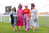 Press Eye - Belfast - Northern Ireland - 22nd June 2019 - . Summer Festival Of Racing Day 2 at Down Royal Racecourse.. Megan Semple, Carolyn Anderson, Sian Cousins and Ali Partridge pictured at Down Royal Racecourse.. Photo by Kelvin Boyes / Press Eye.