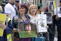 1st June 2019. Supporters pictured at City Hall in Belfast during  a demonstration on behalf of Charlotte and Billy Caldwell .Billy, 13, suffers from a severe, life-threatening form of epilepsy for which cannabis oil is the most effective treatment and unfortunately his supply is at a critically low point.. Mandatory Credit-Presseye/Stephen Hamilton