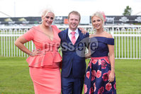 Press Eye - Belfast - Northern Ireland - 22nd June 2019 - . Summer Festival Of Racing Day 2 at Down Royal Racecourse.. Lauren Davey, Bobby Johnston and Jamie-Lee Boydpictured at Down Royal Racecourse.. Photo by Kelvin Boyes / Press Eye.