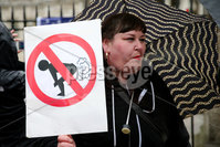 Press Eye - Belfast - Northern Ireland - 04th June 2019. Anti-Trump Protesters at the rally outside Belfast City Hall.. Photo by Philip Magowan / Press Eye