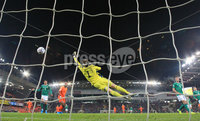 PressEye-Northern Ireland- 16th November 2019-Picture by Brian Little/PressEye. Northern Ireland Bailey Peacock-Farrell against  Netherlands   during Saturday\'s EURO 2020 Qualifier at the National Football Stadium at Windsor Park.. Picture by Brian Little/PressEye