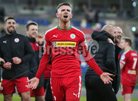 Tennent\'s Irish Cup Quarter-Final, Windsor Park, Belfast 13/3/2018 . Linfield vs Cliftonville. Cliftonville\'s Rory Donnelly celebrates after they win the match 0-1 and go through to the next round. . Mandatory Credit ©INPHO/Jonathan Porter