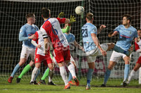 Danske Bank Premiership, Showgrounds, Ballymena. 14/2/2020. Ballymena United  vs Linfield FC. Linfield Jimmy Callacher header against Ballymena United. Mandatory Credit  INPHO/Brian Little