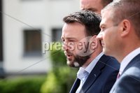 Press Eye - Belfast - Northern Ireland - 20th May 2019 -  . Colum Eastwood pictured at a press conference at the Stormont Hotel following meetings with the political parties.. Photo by Kelvin Boyes  / Press Eye..