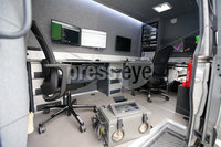 Press Eye - Belfast - Northern Ireland - 19th June 2019 . PSNIs Cyber Crime Centre officially opens in south Belfast.  The unit which deals with high end cyber crime has been in the new 4.3 million facilely for over a year.  A mobile unit which can be taken to scenes of crime. . Photo by Jonathan Porter / Press Eye .