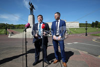 Press Eye - Stormont - 14th May 2019. Photograph by Declan Roughan. Robin Swann with Robbie Butler