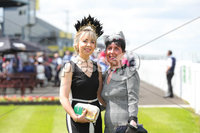 Kate and Lynn Burns Press Eye - Belfast - Northern Ireland - 22nd June 2019 - . Summer Festival Of Racing Day 2 at Down Royal Racecourse.. Kate and Lynn Burns pictured at Down Royal Racecourse.. Photo by Kelvin Boyes / Press Eye.