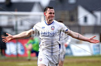 Danske Bank Premiership, The Showgrounds, Ballymena, Co. Antrim 10/3/2018. Ballymena United vs Coleraine. Coleraine\'s Darren McCauley celebrates scoring . Mandatory Credit ©INPHO/Declan Roughan