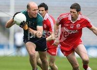 Allianz Football League Division 2 Final, Croke Park, Dublin 29/4/2012. Tyrone vs Kildare. Tyrone\'s Sean Cavanagh and Hugh McGrillen of Kildare. Mandatory Credit ©INPHO/Lorraine O\'Sullivan