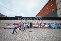 Press Eye - Belfast - Northern Ireland - 5th July 2019 - Picture Matt Mackey / Press Eye.. Families of people killed by the Glenanne Gang outside Belfast High Court after winning their action At the Court of Appeal in Belfast, Lord Chief Justice Sir Declan Morgan rejected an appeal by former PSNI chief Sir George Hamilton against a 2017 judgment that the police\'s failure to conduct an overarching examination of state collusion with the Glenanne Gang was inconsistent with its human rights obligations..