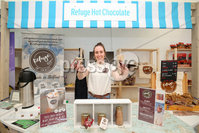 Press Eye - Belfast - Northern Ireland - 15th May 2019. First day of the Balmoral Show, in partnership with Ulster Bank.  Pictured at Balmoral Park, outside Lisburn, is Tara Mullan with her Refuge Hot Chocolate business.  Ulster Bank has provided space in its market at Balmoral Show to entrepreneurs from Ulster Bank\'s Entrepreneur Accelerator programme as well as small business customers. . . Picture by Jonathan Porter/PressEye. .