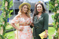 Press Eye - Belfast - Northern Ireland - 22nd June 2019 - . Summer Festival Of Racing Day 2 at Down Royal Racecourse.. Melissa Riddell  and Danielle Donohue pictured at Down Royal Racecourse.. Photo by Kelvin Boyes / Press Eye.
