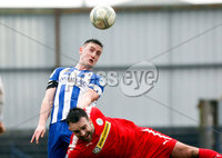Danske Bank Premiership Play-Off, The Ballymena Showgrounds, Co. Antrim 7/4/2018 . Coleraine vs Cliftonville. Stephen O\'Donnell for Coleraine and Jamie Harney for Cliftonville. Mandatory Credit ©INPHO/Freddie Parkinson